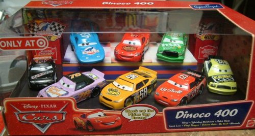 Mattel Disney Pixar Cars Dinoco 400 8-pc Cars Collector Set ()
