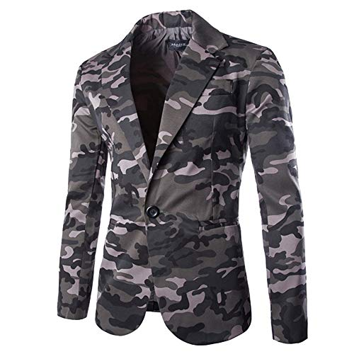 TOPUNDER Fashion Autumn Winter Cardigan Men Camouflage Jacket Long Sleeve Coat Top
