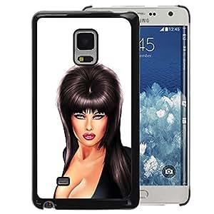 A-type Arte & diseño plástico duro Fundas Cover Cubre Hard Case Cover para Samsung Galaxy Mega 5.8 (Sexy Musician Woman Breast Cleavage)