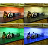 COLOUR CHANGING LED KITCHEN / UNDER CABINET LIGHTING SET (INCLUDES 4 x 50CM LED STRIPS, WIRELESS CONTROLLER & SUPPLY) ** FANTASTIC LED LIGHTING PACKAGE - IDEAL FOR TRANSFORMING KITCHENS, PLINTH LIGHTS, UNDER CABINETS **