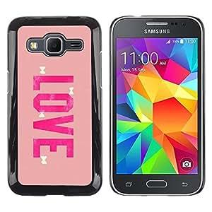 Be Good Phone Accessory // Dura Cáscara cubierta Protectora Caso Carcasa Funda de Protección para Samsung Galaxy Core Prime SM-G360 // love bowtie pink peach valentines