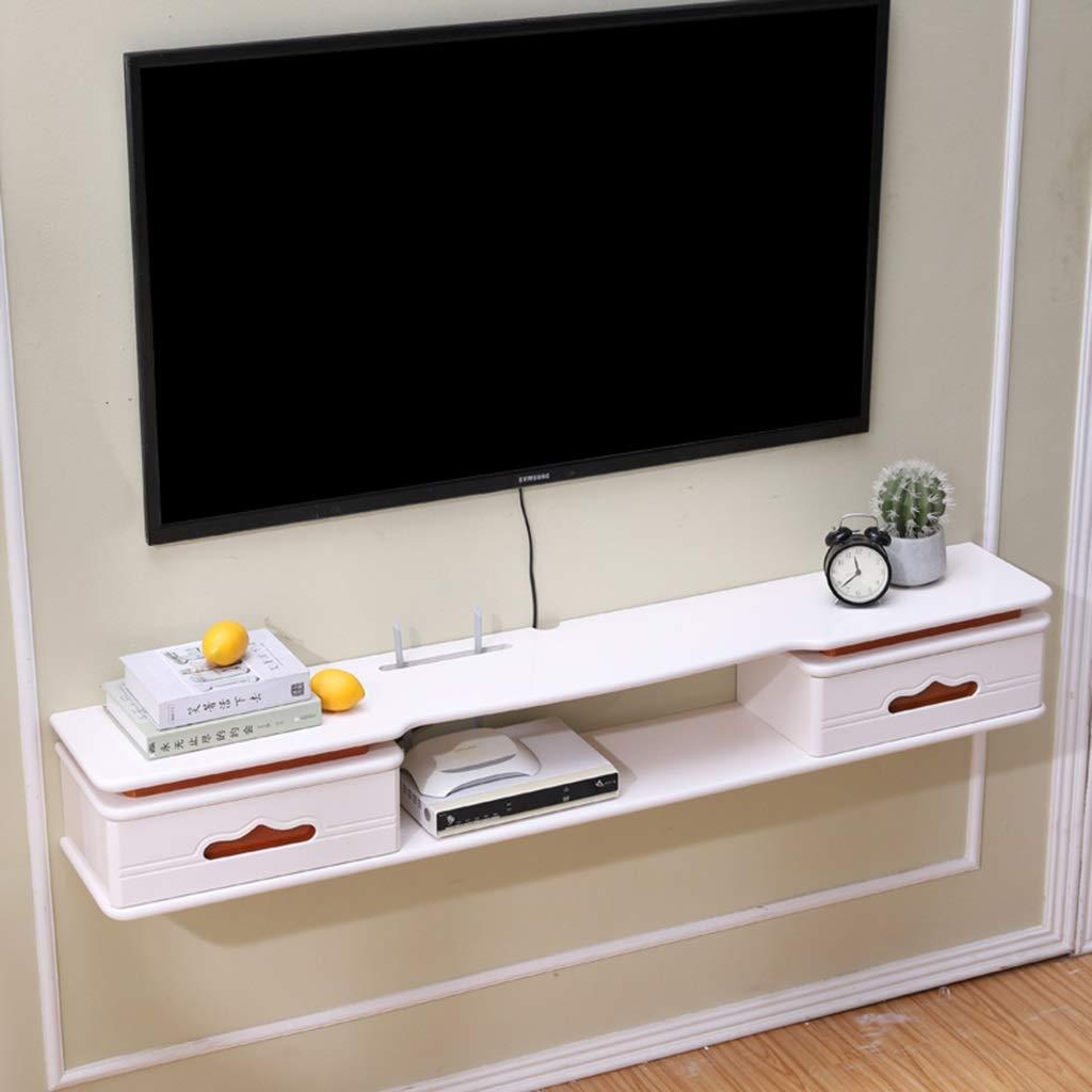 壁浮き棚壁月面棚テレビキャビネットテレビコンソールテレビ棚用ケーブルボックスDVDプレーヤー収納棚壁の背景装飾棚付き引き出し (Color : C, Size : 120cm) B07SRYNH85 C 120cm