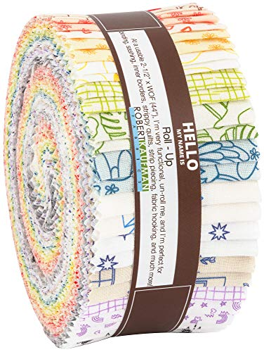 On The Lighter Side Roll Up 40 2.5-inch Strips Jelly Roll Robert Kaufman Fabrics RU-817-40