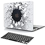 Dongke Case for MacBook Air 11 inch with Black Keyboard Cover Unique 3D Creative Blasting Design Cool Men Hard Protective Shell Sleeve Model Number A1370 /A1465