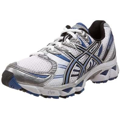ASICS Men's GEL-Nimbus 12 Running Shoe,White/Black/Royal,8 2E US
