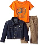 LEE Baby Boys' French Terry Jacket Set 3 Piece Pant