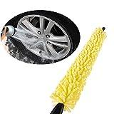 #4: Yamalans Car Wheel Brush Practical Handle Yellow Sponge Cleaning Tire Rim Brush Tool