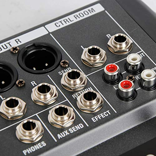 Depusheng 12 Channel Bluetooth Digital Microphone Sound Mixer Console Professional Karaoke Audio Mixer Amplifier with…