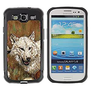 Suave TPU GEL Carcasa Funda Silicona Blando Estuche Caso de protección (para) Samsung Galaxy S3 III I9300 / CECELL Phone case / / Wolf Drawing Art Painting White Gray Oil Watercolor /