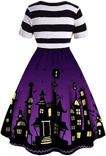 PinkLu damska sukienka karnawałowa, odświętna, na Halloween, z długim rękawem, gorsetowa, koktajlowa, długa do kolan, na karnawał, imprezę: Odzież