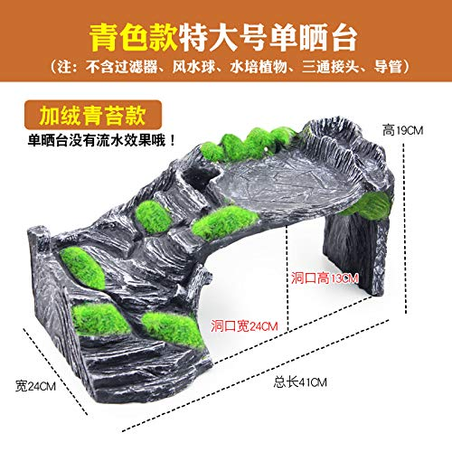 Extra large moss JRTAN&Pet Turtle terrace large floating island ladder landscaping, large water paint