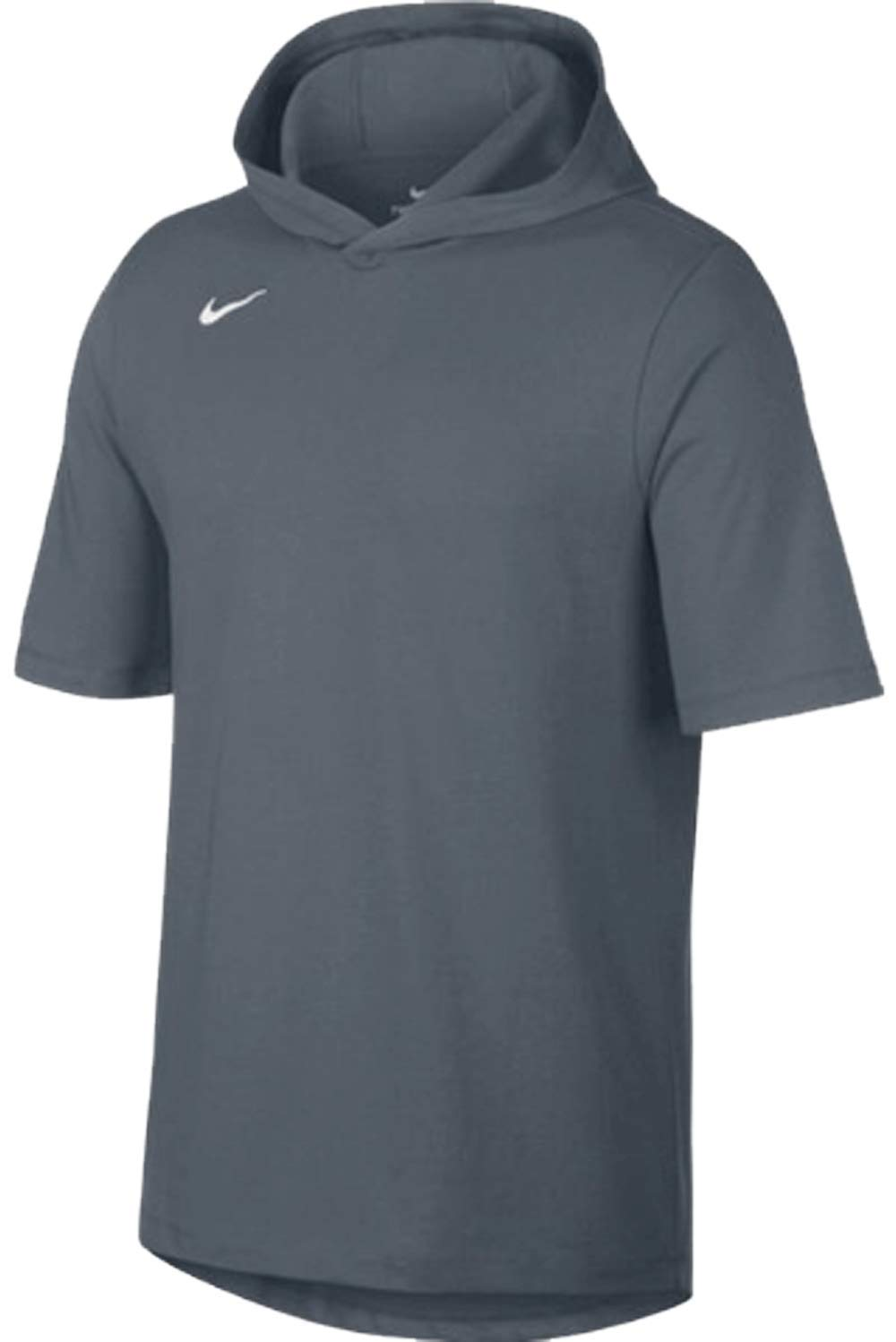 Nike Mens Hooded Players Tee Team Cool Grey/Black Size XL by Nike