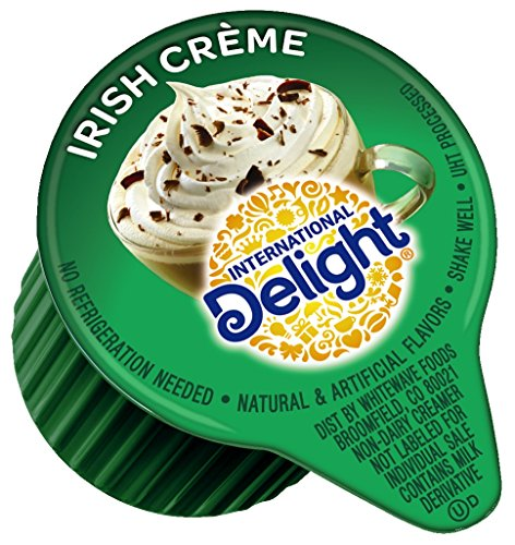 International Delight, Irish Creme, Single-Serve Coffee Creamers, 288 Count, Shelf Stable Non-Dairy Flavored Coffee Creamer, Great for Home Use, Offices, Parties or Group Events (Smooth Cream Coffee)