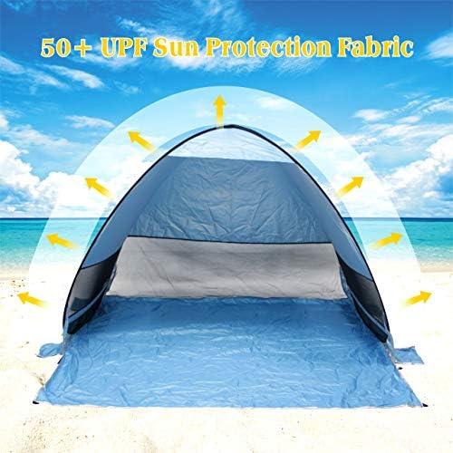 Tente De Plage Gupamiga Tente De Camping Tente Pop Up Tente Instantanée Abri Contre Le Soleil Tente Pop Up Avec Piquets De Tente étanche Et