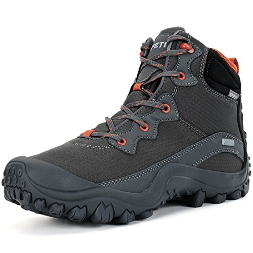 Waterproof Trail Trek Hiking Boot Gray 9 Mountaineering Daily Walking Shoe ()