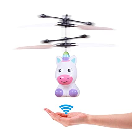 Image result for Fashion Children Mini Infrared Sensing Lighting Flying Toy unicorn USB Charging Toy Electronic Pets