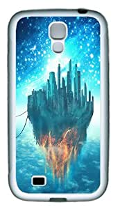 The Burning City Custom TPU Rubber Case Cover for Samsung Galaxy S4 / SIV / I9500 White