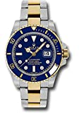Rolex Oyster Perpetual 40MM Stainless Steel & 18K Yellow Gold Submariner Date With a Blue Cerachrom And Rotatable Bezel And a Blue Dial With Diamond Hour Markers.