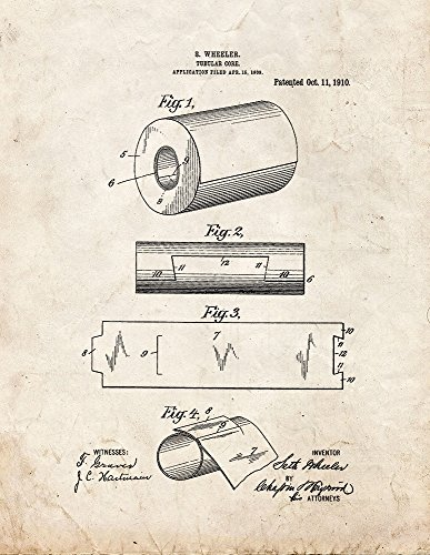 Tubular Core of Toilet Paper Roll Patent Print Art Poster Old Look