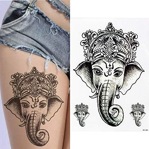 tzxdbh 5 Piezas de Tatuaje Temporal Realista - Ganesha Elephant ...