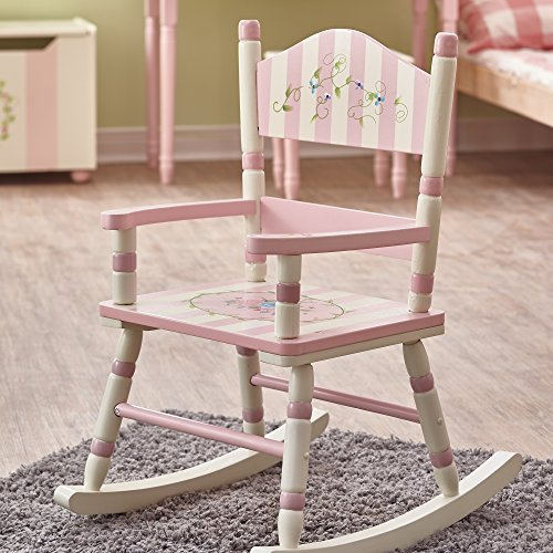 Teamson Design Corp Fantasy Fields - Bouquet Thematic Kids Wooden Rocking Chair Imagination Inspiring Hand Crafted & Hand Painted Details Non-Toxic, Lead Free Water-based Paint by Teamson Design Corp (Image #1)