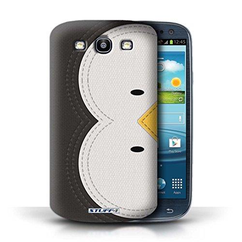 Stuff4 Hülle / Hülle für Samsung Galaxy S3/SIII / Pinguin Muster / Genähte Tier Effekt Kollektion