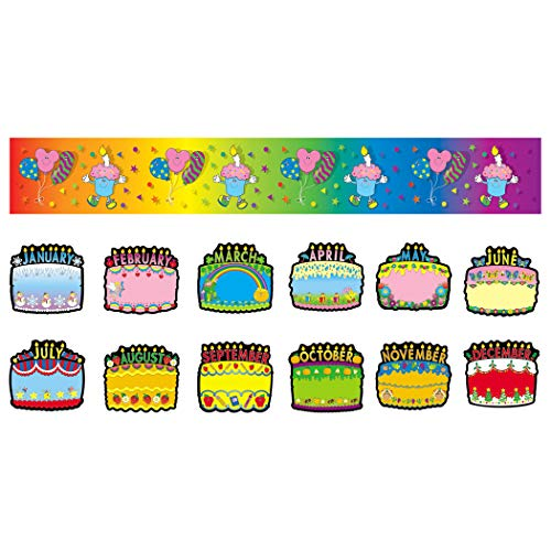 Carson Dellosa Birthday Cakes Bulletin Board Set (1726)