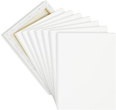 Americanflat Artists White 5x7 inch Canvas Panels for Students Painters 12 Pack and More