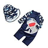 #7: Collager Baby Boys One Piece Swimsuit Toddler UV Sun Protective Long Sleeve Bathing Suit Surfing Suit UPF 50+