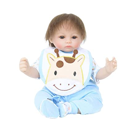 45 cm cargador de muñecas Reborn juguete con sombrero de silicona ...