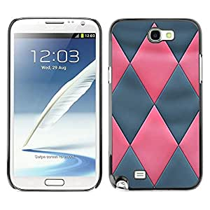 Estuche Cubierta Shell Smartphone estuche protector duro para el teléfono móvil Caso Samsung Note 2 N7100 / CECELL Phone case / / Pink Grey 3D Leather Pattern /