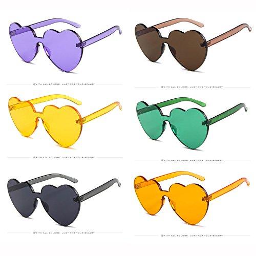 広い一カンガルーネオンカラーズ ハート型 パーティー サングラス エレガント メガネケースつき ファッションサングラス