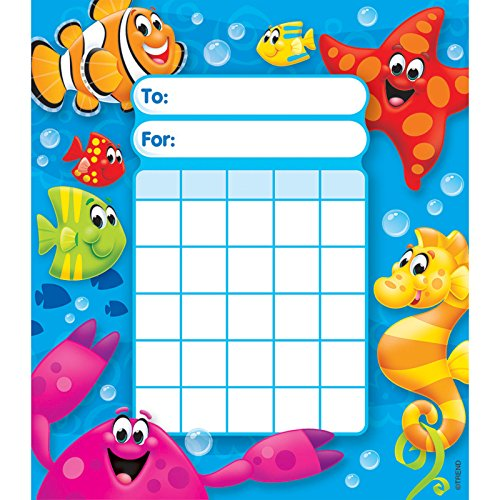 Bubble Water Column - Trend Enterprises T-73065BN Sea Buddies Incentive Pad, 36 Sheets per Pad, Pack of 6
