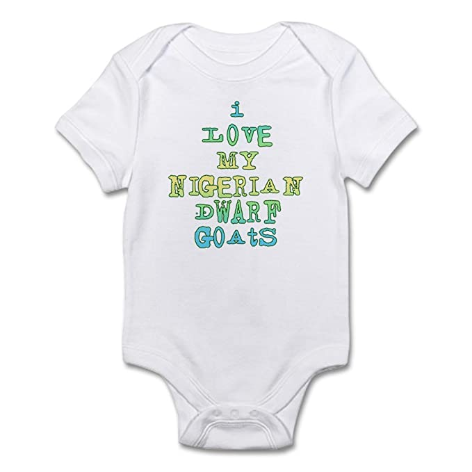 11c2bb8d675 Amazon.com  CafePress Nigerian Dwarf Goats Infant Bodysuit Baby Bodysuit   Clothing