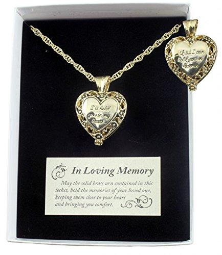 gold ash necklace urn - 2