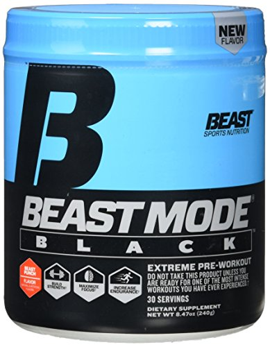 Beast Sports Nutrition Mode Black Energy Drink, Beast Punch, 9.47 Ounce