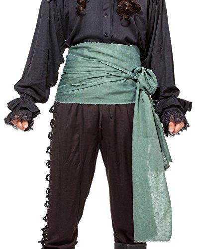 Pirate Medieval Renaissance Linen Large Sash [Green] ()