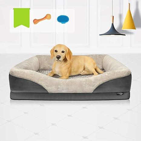 Amazon.com: Niubya Cama para perro ortopédica grande ...