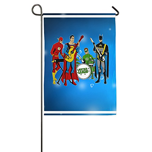 Umison Rock Band Heros Justice Decorative Garden Flag Classic Pub Flag 1827inch ()
