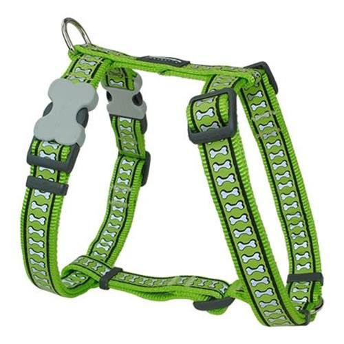 Red Dingo Reflective Lime XS Dog Harness