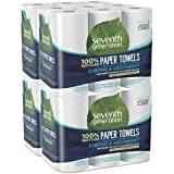 Seventh Generation Paper Towels, 100% Recycled Paper, 2-ply, 6-Count (Pack of 4)