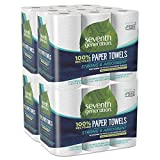 Kitchen & Housewares : Seventh Generation Paper Towels, 100% Recycled Paper, 2-ply, 6-Count (Pack of 4)