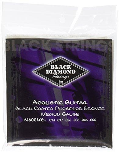Black Diamond N600MB Phosphor Bronze Black Coated Acoustic Guitar Strings, ()