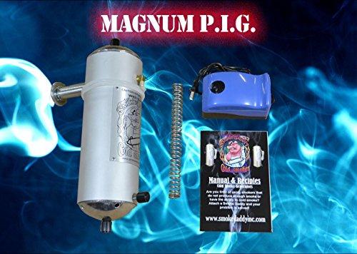 Smoke Daddy Magnum P.i.g. Cold Smoke Generator w Big Green Egg Adapter Or Similar Cermaic Grills