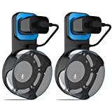 Outlet Wall Mount Hanger Holder Stand for Amazon Echo Dot 2nd Generation Plug in Kitchens, Bathroom And Bedroom (Black) 2pcs