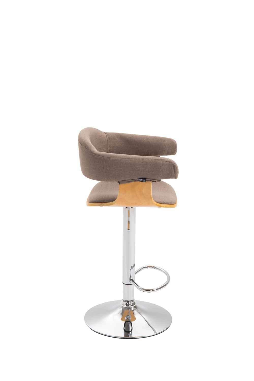 Sedia Bancone Regolabile 61-82cm con Braccioli Natura//Crema CLP Sgabello Design Natal in Legno E Tessuto