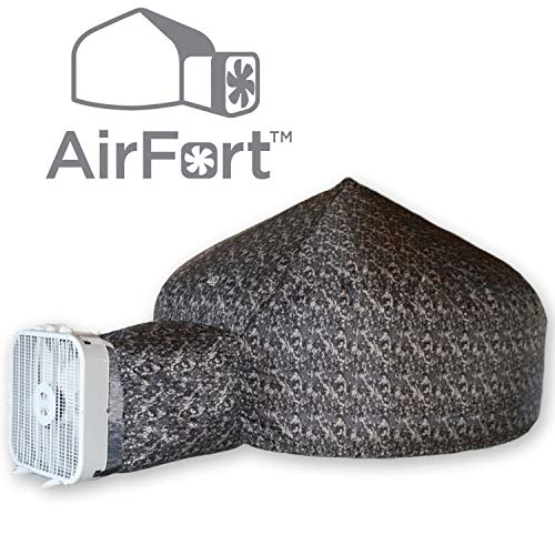 Fan Back Kids Chair - Air Fort  The Original Build A Fort in 30 Seconds, Inflatable for Kids, Digital Camo