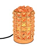 Decolighting HY-02 Salt Lamp, Himalayan Salt Lamp Natural Salt Crystal Chunks in Acrylic Diamond Cylinder with Wooden Base, Rotary Switch Adjusts Brightness, Dimmable Control, 2 Bulbs, UL-Listed Cord Review