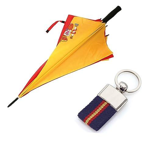 Paraguas de la Bandera Española + Llavero ESP-ANTIVENTISCA ...