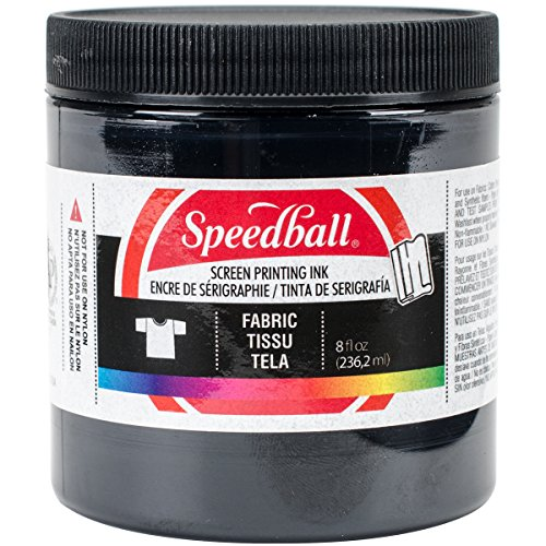 Speedball 8-Ounce Fabric Screen Printing Ink, Black (4560) - Paper Block Printing Ink